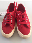 SUPERGA 2750 JCOT CLASSIC RED LACE-UP CANVAS SHOE SNEAKER PUMP