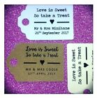 Personalised Love is Sweet so Take a Treat Wedding Favour Tags MINI Price Label