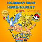 Pokémon ORAS / XY – PACK LEGENDARY BIRDS EVENT HIDDEN ABILITY 6IV's