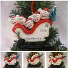 """PERSONALISED XMAS TREE DECORATION """"SLEIGH FAMILY"""" 2,3,4,5 NAMES """"+ GIFT BAG"""""""