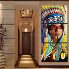Внешний вид - 3Pcs Indian Woman Art Oil Painting Canvas Print Wall Picture Home Decor 50x35cm