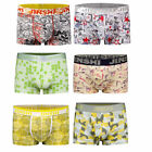 6 PCS  JINSHI Men's underwear soft short underpants bamboo fiber boxer briefs