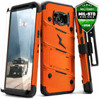 Galaxy Note 8 / S8 / S8 Plus Case, Zizo Bolt w/ Screen Protector and Holster