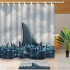 Great white shark fin Shower Curtain Bathroom Waterproof Fabric & 12hooks 71*71