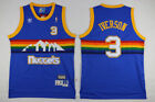 NWT Vintage Adidas Hardwood Classics Allen Iverson Nuggets NBA Jersey Blue