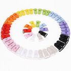 10pcs Colours KAM Plastic Baby Dummy Clips Pacifier Soother Nipple Leash Holder