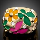 SunFlower and Butterfly Oil Painting Ring for Women Girls Ladies MJ0053