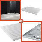 Low profile Drying Area Shower Tray White Stone Resin Bathroom