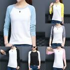 Womens Fashion Long Sleeve Loose Top Blouse T Shirt Ladies Casual  Tops