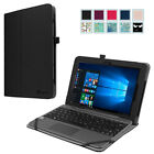 For ASUS Transformer Book T101HA-C4-GR 10.1 Inch Leather Case Stand Cover Black