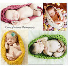 Baby Knitted Crochet Wool Pod Bowl Cocoon Sleeping Bags Fit Photography Props