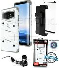 Zizo BOLT Case Cover + Holster + CURVED Screen Protector Combo for GALAXY Note 8