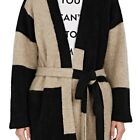 THE ELDER STATESMAN WOMENS COLORBLOCKED CASHMERE CARDIGAN