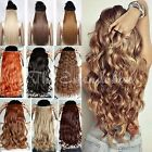 """UK seller 24"""" Full head extensions Clip-in Hair One-Piece straight wavy curly"""