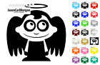Adorable Toon Angel Wall Window Sticker Scooter Boat Car Laptop Decal 21 Colours