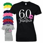 60th Birthday Gift T Shirt 60 And Fabulous Made In 1958 Vintage Year Ladies Top