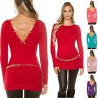 Women's Back Chain Pullover Sweater - One Size S/M/L