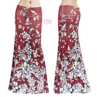 Women's LONG SKIRT Red Floral Sublimation maxi S/M/L/XL/1XL/2XL/3XL