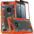 ZTE Blade Z Max Case, Zizo Proton 2.0 Military Cover w/ Glass Screen Protector