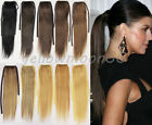 Thick Pony Tail Wrap on Ponytail Clip in Real Remy Human Hair Extensions Tie Up