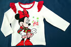Neu! Disney Minnie Mouse Stretch Langarmshirt Shirt Longsleeve 80  86 92