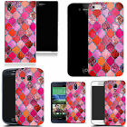 pattern case cover for many Mobile phones pink equanimity