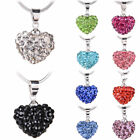 Fashion Jewelry 925 Sterling Silver with Crystal Beautiful Heart Love Necklace