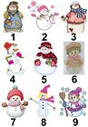 Christmas Snowlady Small or Large Sticky White Paper Stickers Labels NEW