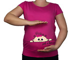 New Maternity 10-20 Cotton Baby Girl Peek A Boo Print Top Tunic Funny T-Shirt