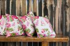 Personalised Cushion Cover Floral Print With Letter Cute Girl Bedroom Gift ST1