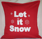 Let it Snow Merry Christmas Xmas gift Sofa Bed Car Home Decor red white cushion