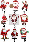 Christmas Santa Small or Large Sticky White Paper Stickers Labels NEW