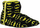 Official Mens Batman DC Slip On Booties Ankle Boots Slippers