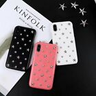 New 3D Rivet Star PU Leather Back Case Cover Skin for iPhone 6 7 8 X / S Plus