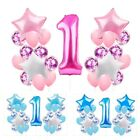 1st Baby  Birthday First Balloons Set  Party Decoration Kit Girl Blue Boy Latex