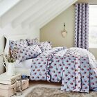 Catherine Lansfield Blue & Multi Vintage Floral Cotton Rich Duvet Set Bedding