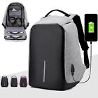 Anti-Theft Student Laptop Backpack Waterproof Design USB Port Travel Bag Lot