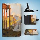 ITALY ROME DRAWING ART FLIP WALLET CASE COVER FOR IPHONE 5 / 5S / 5SE