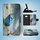 FUNNY WHALE IN JAR SKETCH DRAWING FLIP WALLET CASE COVER FOR SAMSUNG GALAXY S7