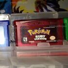 Pokemon Fire Red, Leaf Green, Emerald, Sapphire and Ruby Gameboy Games USA!!