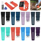 Sports Soft Silicone Watch Band Replacement Wrist Strap w/ Tool For Fitbit Surge