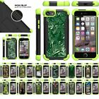 "For Apple iPhone 8 (4.7"") Hybrid Grip Kickstand Defender Green Bumper Case"