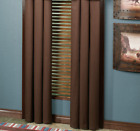Southwest Grommet Curtain Pair Brown Blue Rustic Western Frontier Bedroom Decor image