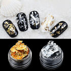 Beauty Nail Art Gold Silver Paillette Flake Foil Acrylic UV Gel Paper 3D Tips