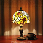 European Country Sunflower Glass Tiffany Table Lamp Bedroom Tiffany Table Light