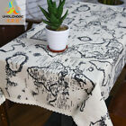 Table Linen Country Style Map Printed Cloth Napkins Cotton Square Home Decor New