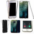 360° Silicone gel full body Case Cover for many mobiles - blue drizzle droplet