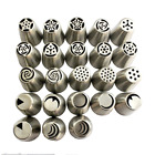 Russian Piping Pastry Tips Stainless Steel 23 Piece Set Cake Decorating Supplies