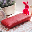GIFT Python Snake Genuine Leather Zip Around Wallet Purse Clutch Phone Card OV