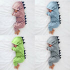 Newborn Infant Baby Boy Girl Dinosaur Hooded Romper Jumpsuit Kid Outfits Clothes